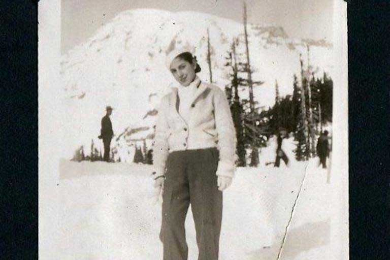Alma in the mountains in 1936