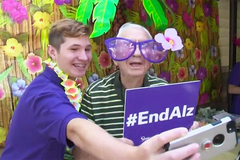 End Alzheimer's Selfie