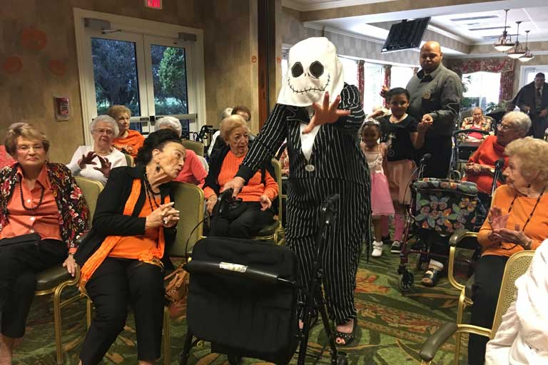 Halloween party at Garden Plaza at Inverrary