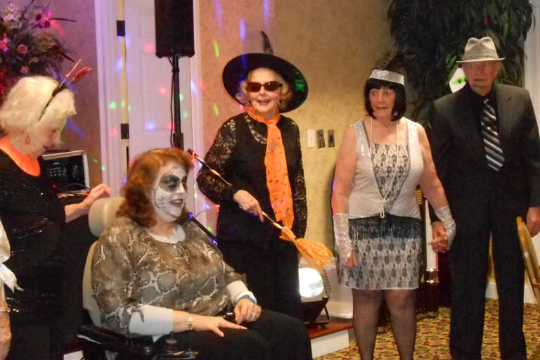 Residents at Garden Plaza of Lawrenceville dressed up for Halloween