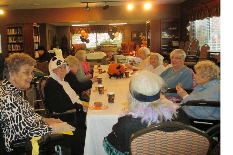 Heatherwood Retirement Halloween celebration