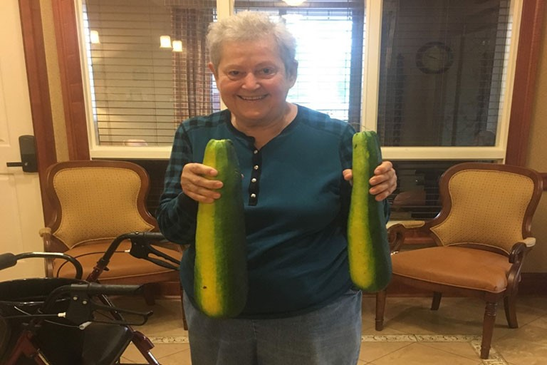Zucchini grown by Nancy