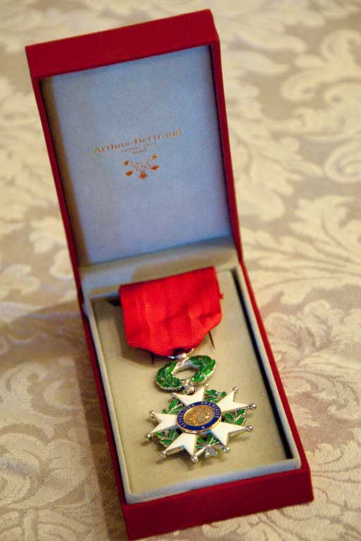 The National Order of The Legion of Honor in the rank of Chevalier