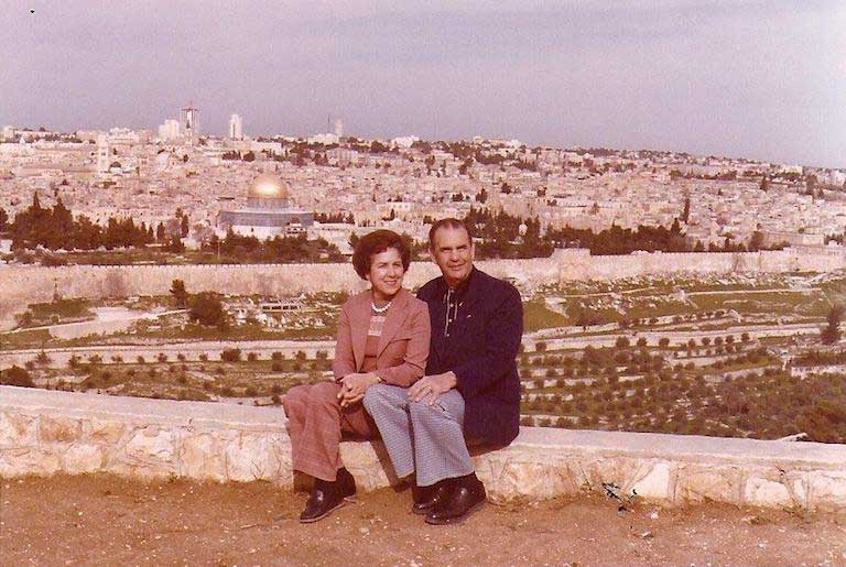 Alma with husband Harold
