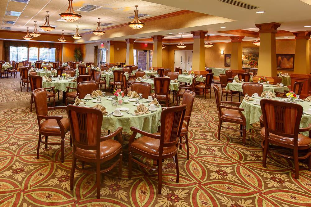 Senior living gallery post falls id for Senior living dining room
